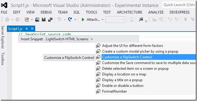 LightSwitch Help Website > Blog - Creating Visual Studio LightSwitch