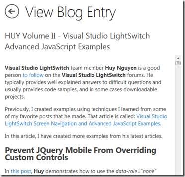 LightSwitch Help Website > Blog - Create PhoneGap Applications From