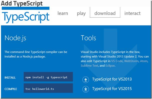 Visual Studio Reactjs Typescript: LightSwitch Help Website > Blog