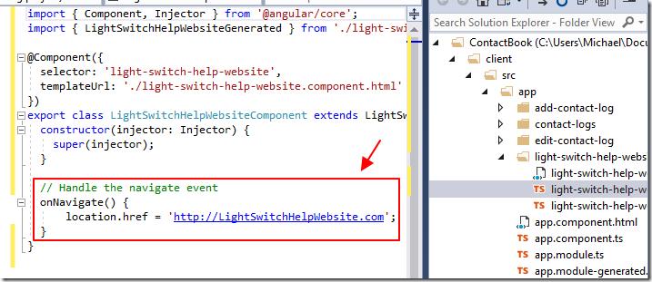 LightSwitch Help Website > Blog - Auto-generating Angular 4