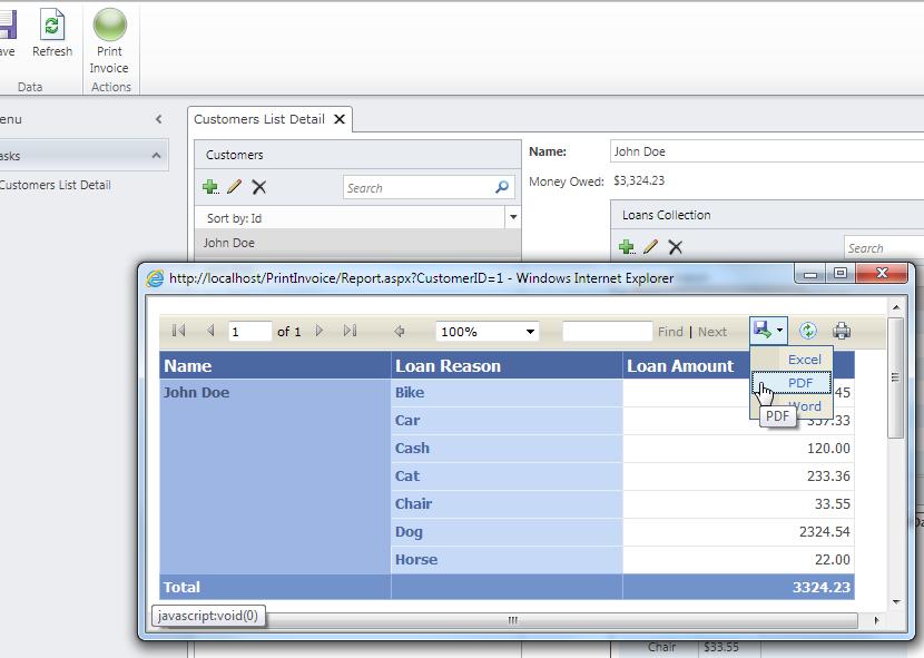 LightSwitch Help Website > Blog - Printing Sql Server Reports ( rdlc